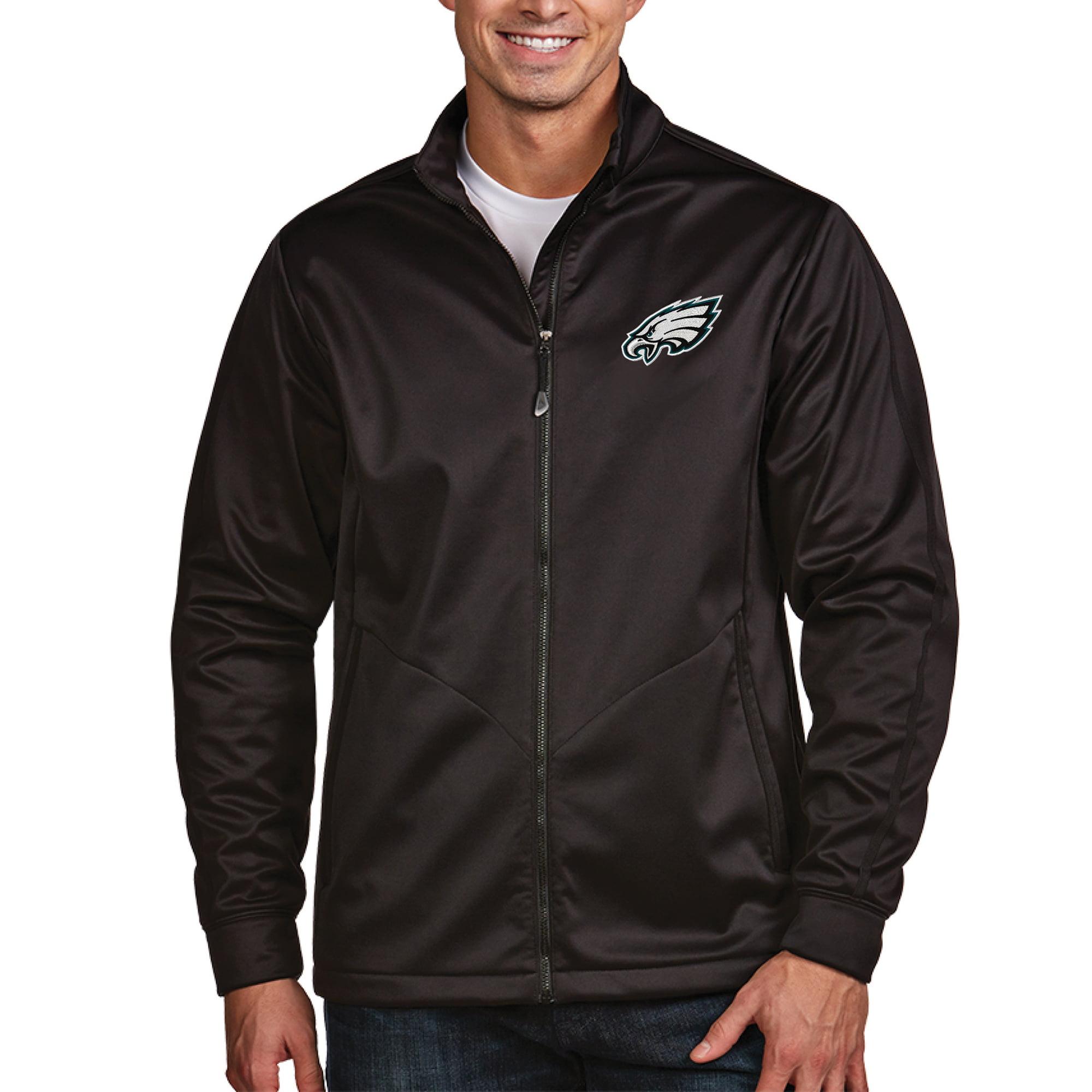 Philadelphia Eagles Antigua Full-Zip Golf Jacket - Black