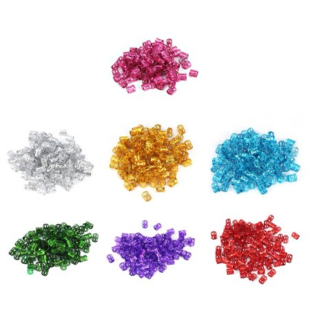 Dilwe 100 Pcs Colorful Adjustable Hair Braid Beads Rings Cuff Hair Beauty Decoration Tool Wig Accessories (Red) (Hair Beading Tool)
