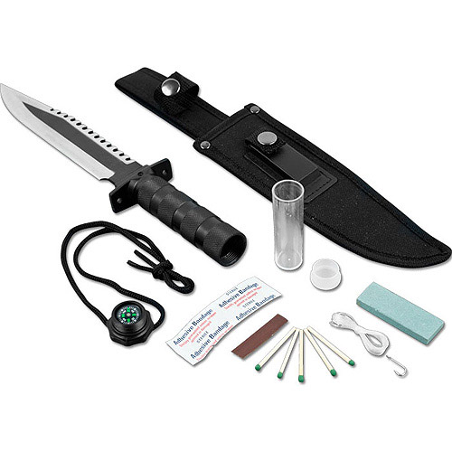 Whetstone Frontiersman Survival Knife & Kit with Sheath, Various Colors