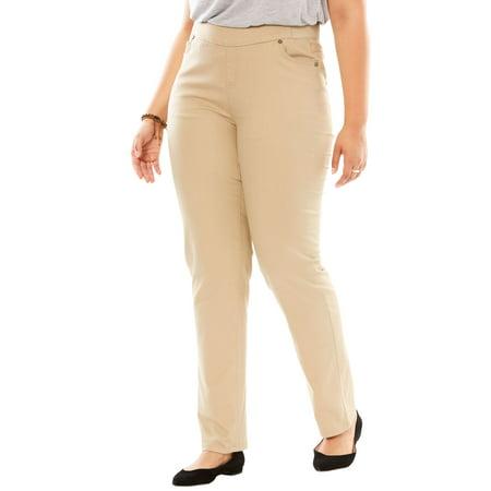 Woman Within Plus Size Straight Leg Smooth Waist Jean