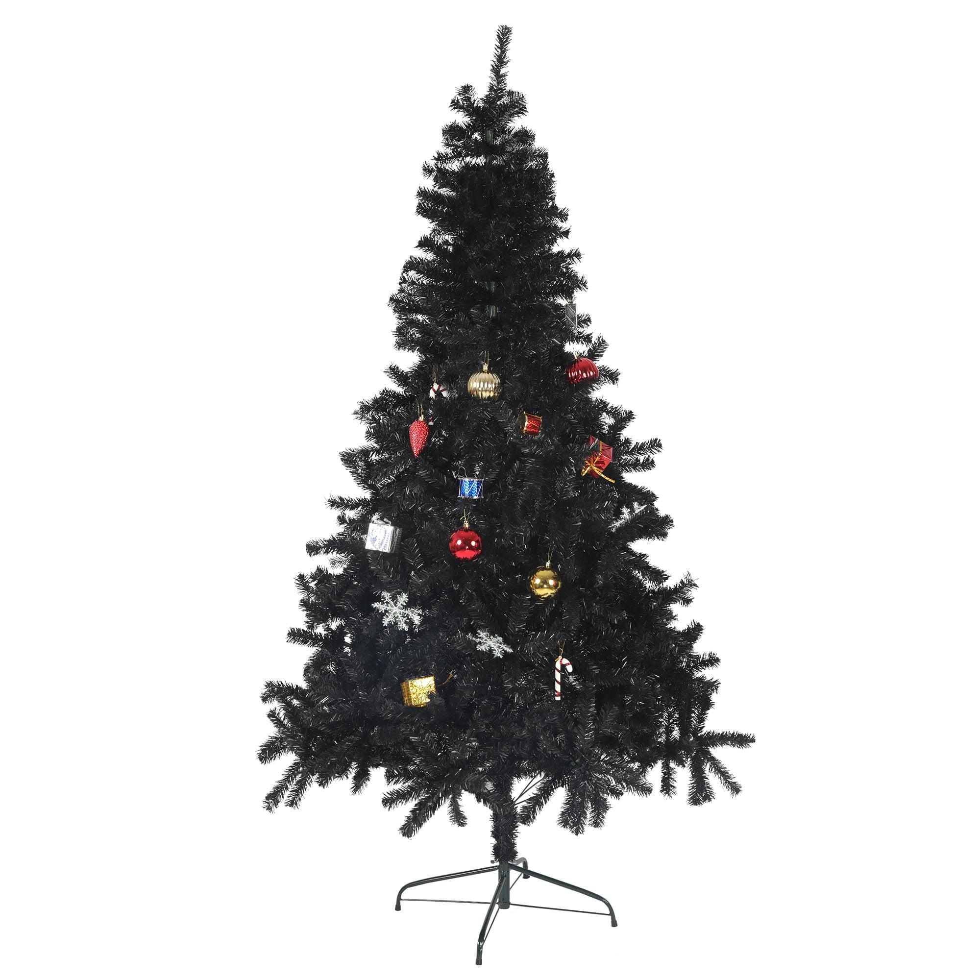 Karmas Product Black Artificial Tree 8 Feet Halloween Christmas Tree Artificial Pine Tree High Quality Pvc Branch With Sturdy Meatl Stand Walmart Com Walmart Com