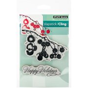"""Penny Black Cling Rubber Stamp, 5"""" x 7.5"""" Sheet, Berry Merry Christmas"""