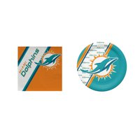 Miami Dolphins 20 Pc Disposable Paper Plates And 20 Pc Disposable Napkins