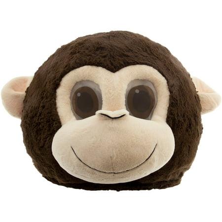 Monkey Maskimal: Large Wild Animal Plush Head Mask Accessory