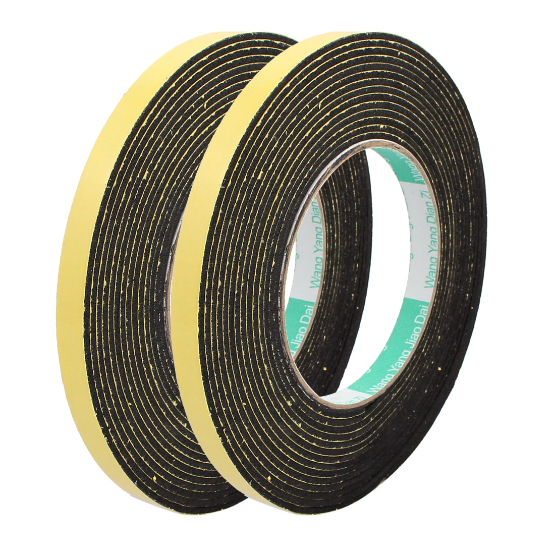 2Pcs 10mm Width 2mm Thick Single Sided Sealing Shockproof Sponge Tape 5m Length