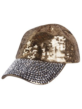 21bb9a593d443 Product Image Womens Sequin Fashion Baseball Cap w  Full Stoned Bill