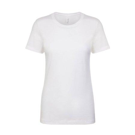 Next Level Women's 1x1 Rib Collar Tear Away label Jersey T-Shirt, Style NL1510
