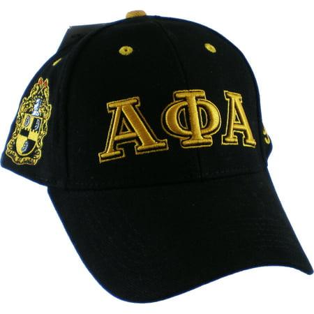 Buffalo Dallas Alpha Phi Alpha Fraternity, Inc. Low-Profile Mens Cap [Black - Adjustable]