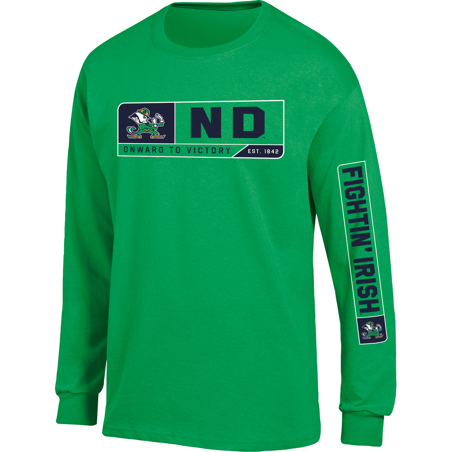 Men's Russell Green Notre Dame Fighting Irish Team Long Sleeve T-Shirt