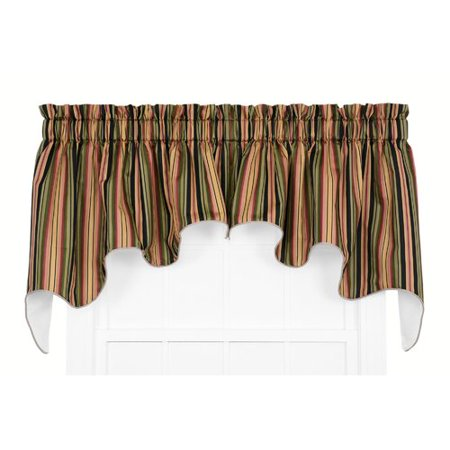 Darby Home Co Xenia Medium Scale Stripe Print Lined Duchess Curtain Valance