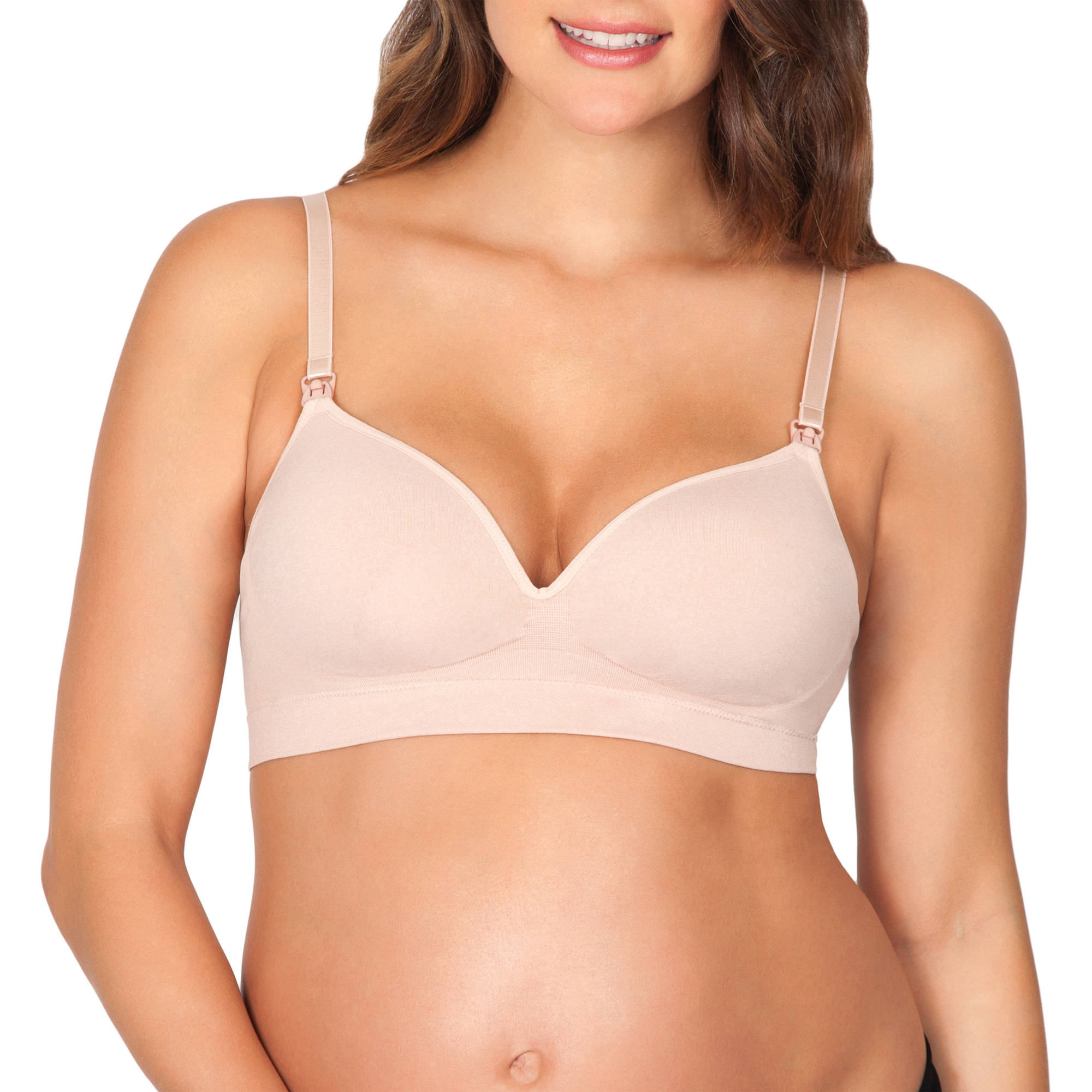 Maternity Seamless Nursing Bra with Removable Pads