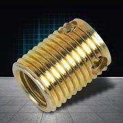 Zaqw Thread Repair Insert, Self-tapping Insert,10pcs 308 Type 3-hole Carbon Steel Self-tapping Screw Thread Inserts