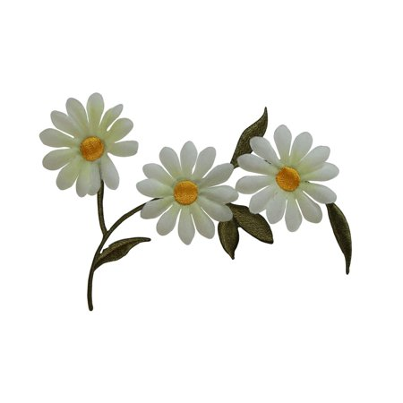Iron Lace Collection (ID 6741 White Lace Daisy Plant Patch Garden Flower Embroidered Iron On)