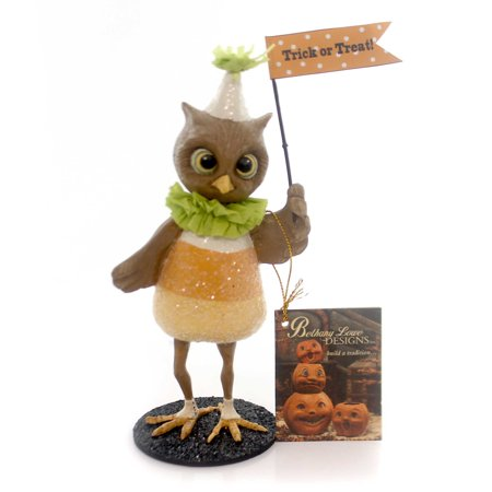 Halloween CANDY CORN HOOTIE Polyresin Trick Or Treat Td5032