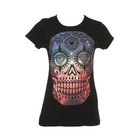 Womens Galaxy Sugar Skull Short-Sleeve T-Shirt for $<!---->