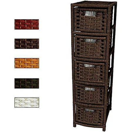 Modern Vintage 5 Drawer Floor Storage Cabinet - Includes Modhaus Living Pen (Black)