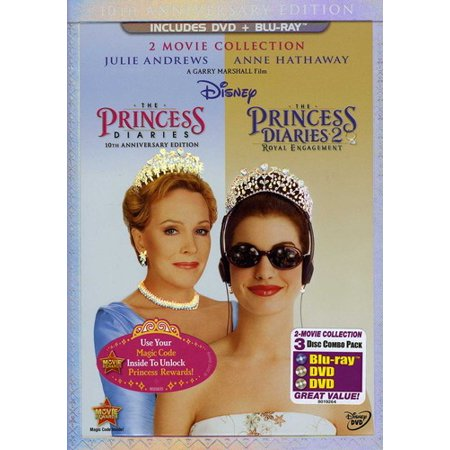 The Princess Diaries  10 Anniversary Edition   The Princess Diaries 2  Royal Engagement  2 Disc Dvd   Blu Ray   Widescreen