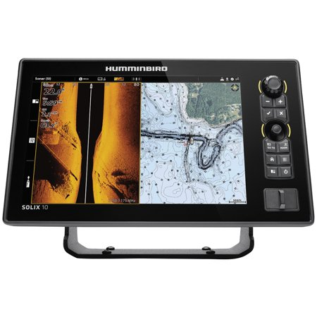 Humminbird 411010-1 SOLIX 10 CHIRP G2 Sonar Combo Fishfinder/GPS/Chartplotter with MEGA Down & Side Imaging + & 10.1