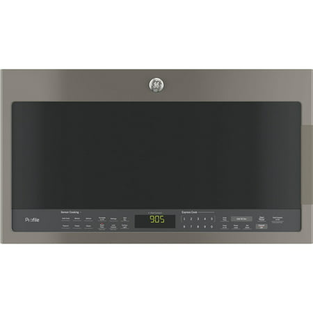 PVM9005EJES 30 Over-the-Range Microwave with 2.1 cu. ft. Capacity  1050 W Power  Three Speed 400-CFM Venting  Chef Connect  Bottom Control with Integrated Handles and 10 Power Levels in (Over The Range Microwave With Vent Hood)