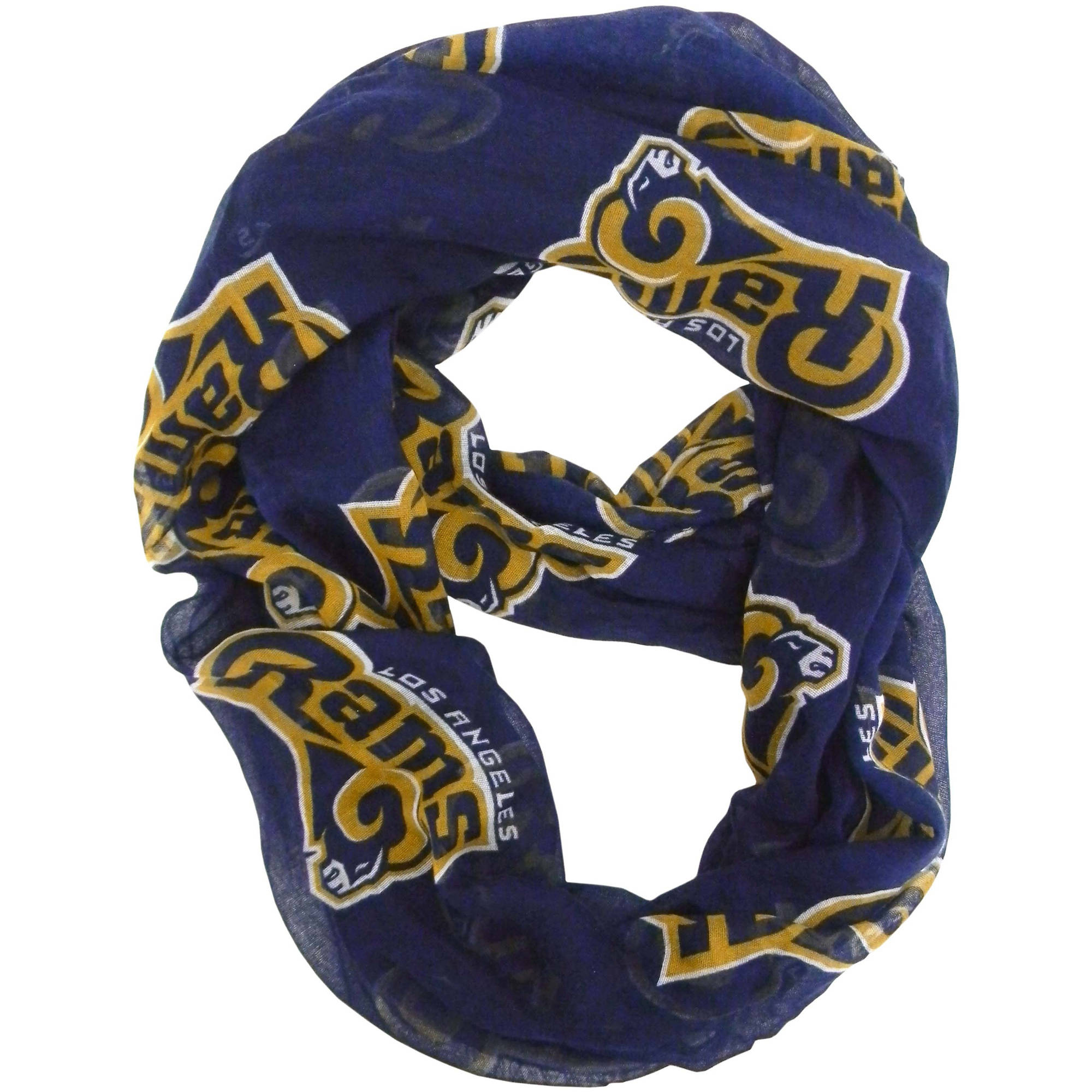 Little Earth - NFL Sheer Infinity Scarf, Los Angeles Rams