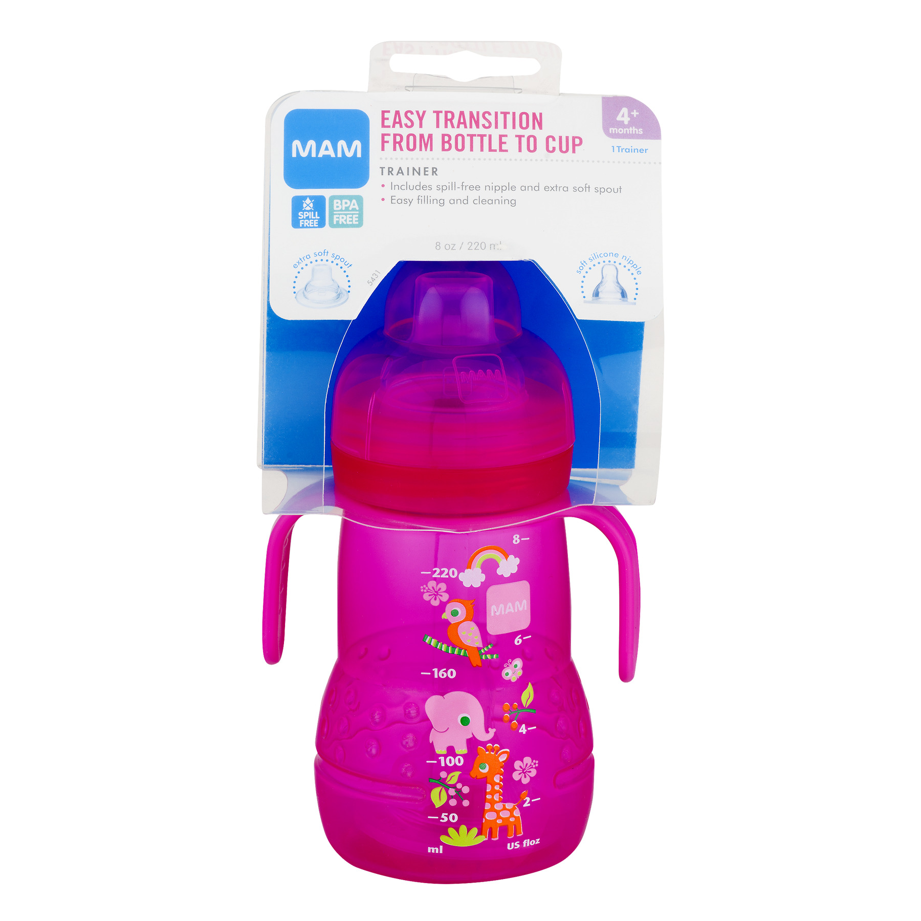 Mam Easy Transition Bottle to Cup Soft Spout Trainer Sippy Cup