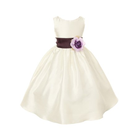 Dempsey Marie Dempsey Marie Poly Silk Flower Girl Dress With