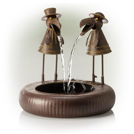 Alpine Corporation Metal Toucan Fountain