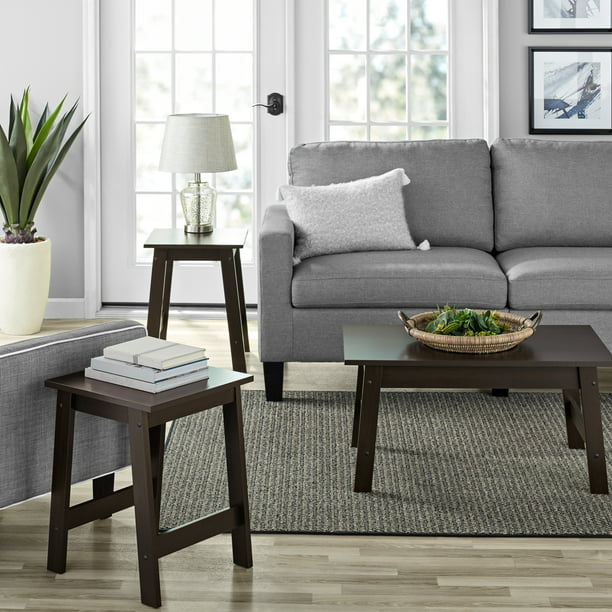 Mainstays Pilson 3 Piece Coffee Table, 3 Piece Living Room Table Set