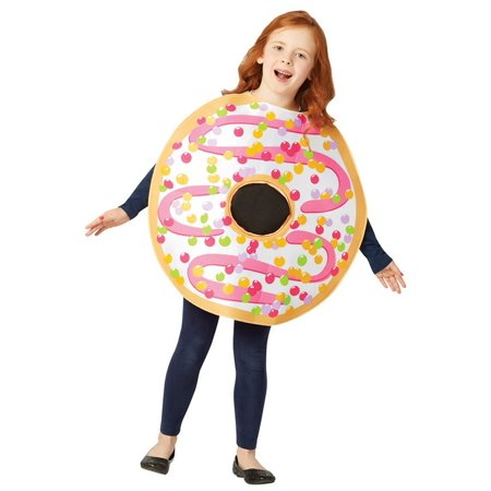White Frosted Donut Child Halloween Costume, One Size, (7-10)](Halloween Donuts With Teeth)