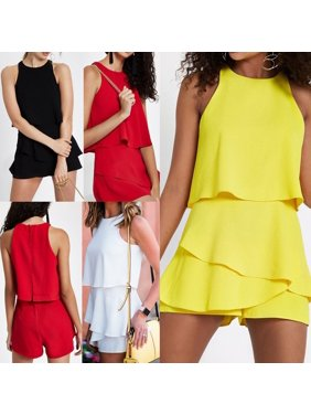 045ee51c6a676c Product Image Womens Holiday Playsuit Romper Ladies Ruffles Jumpsuit Summer  Beach Clubwear
