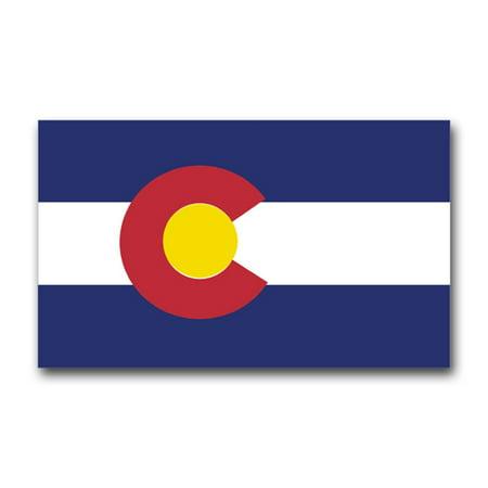 - 3.8 Inch Colorado State Flag Vinyl Transfer Decal