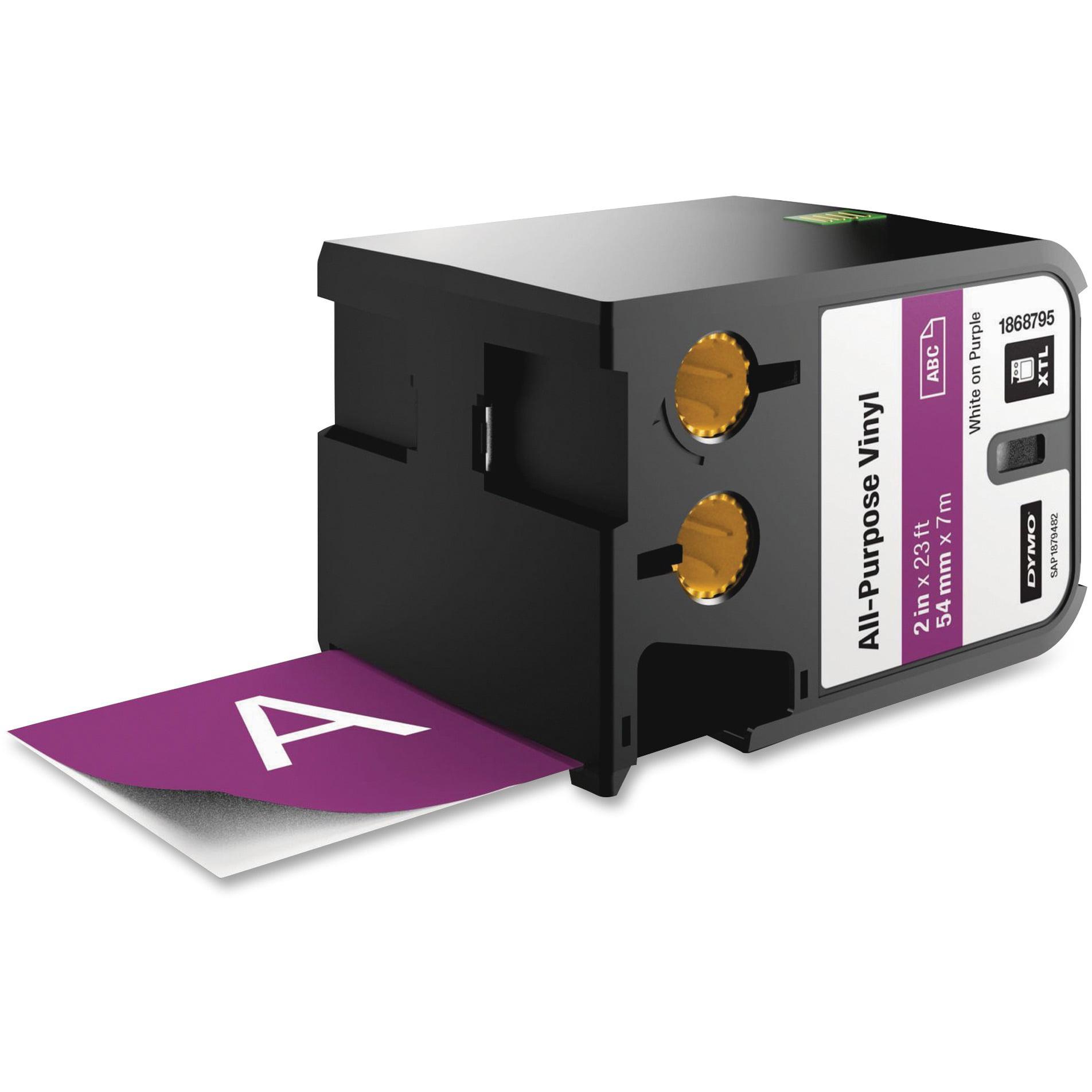 Dymo, DYM1868795, XTL All-Purpose Vinyl Label Cartridge, 1 Each, Purple