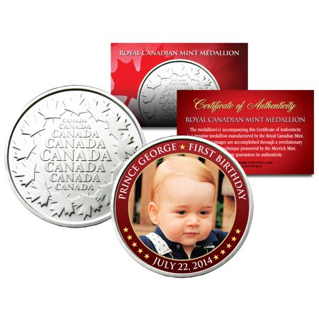 PRINCE GEORGE * First Birthday 2014 * Royal Canadian Mint Medallion Coin BABY (Birthday Coin Set)