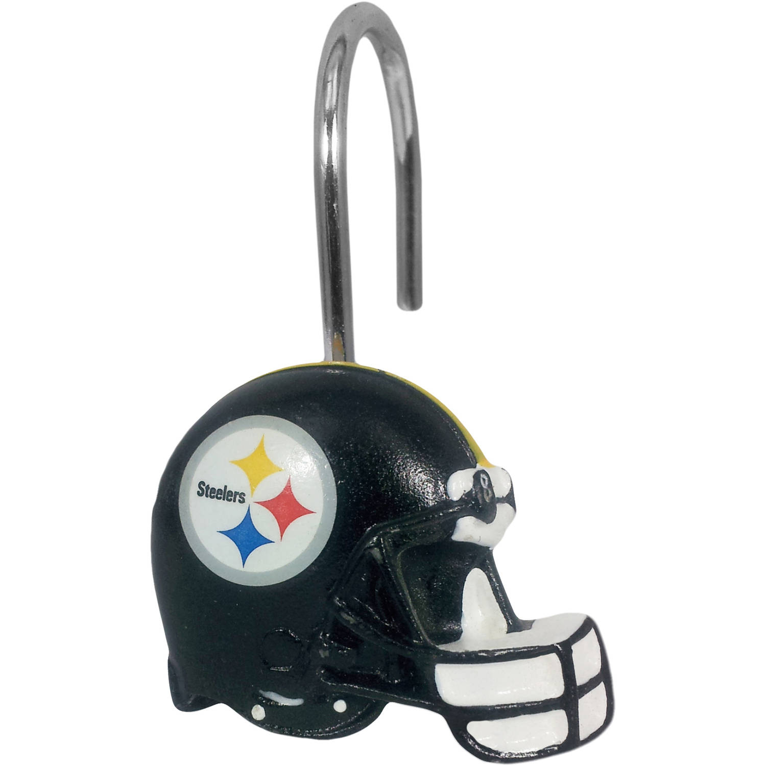 nfl pittsburgh steelers decorative bath collection 12pc shower hooks