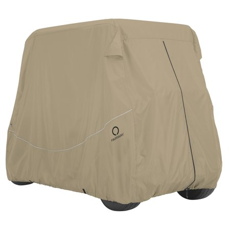 Classic Accessories Fairway Golf Cart Quick-Fit Cover - Khaki (Multiple Sizes) - Golf Cart Ideas