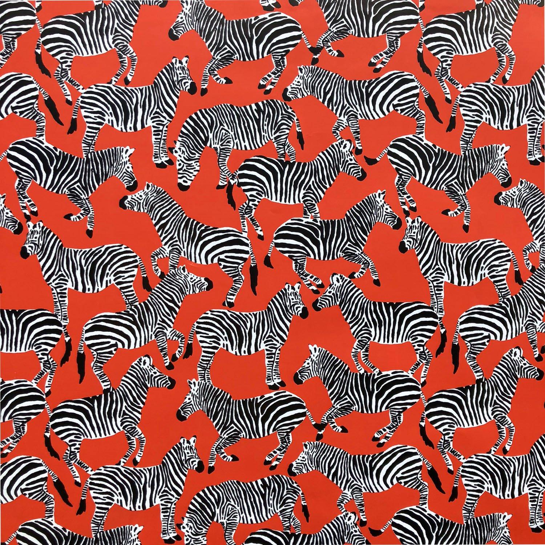 "Jillson & Roberts Gift Wrap, Zebras, 5' x 30"" Rolls (8 Pcs)"