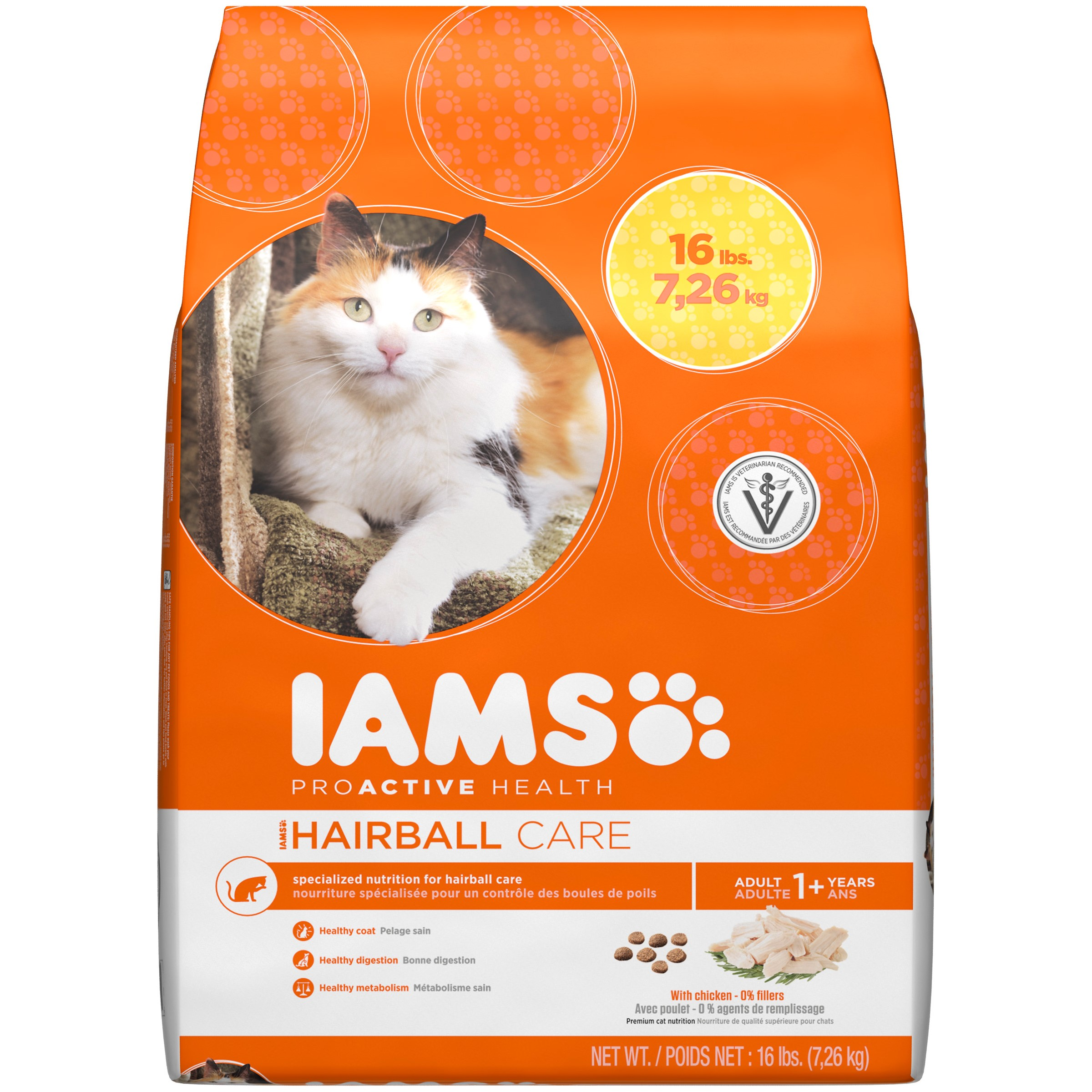 Iams ProActive Health Hairball Care Chicken Dry Cat Food, 16 Lb by Mars Petcare