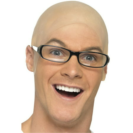 Adult Skin Completely Bald Head Cap No Hair Costume Accessory](Baseball Head Costume)