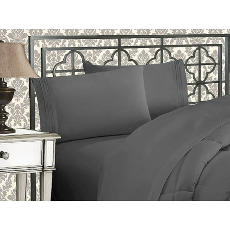 Elegant Comfort? 1500 Thread Count Egyptian Quality 2pcs PILLOW CASES - ALL SIZES AND COLORS, Queen, Gray - image 2 de 2