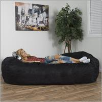 Noble House Logan Faux Suede 8-foot Lounger Bean Bag, Multiple - 8 Plush Bean Bag
