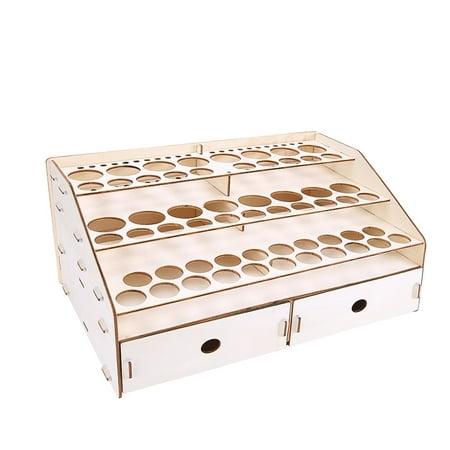 15/80 Holes Wooden Paints Bottles Storage Rack Holder Modular Color Organizer (Paint Bottle Organizer)