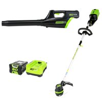 Greenworks Pro 80V Cordless String Trimmer and Blower Combo, 2Ah Battery and Charger Included STBA80L210