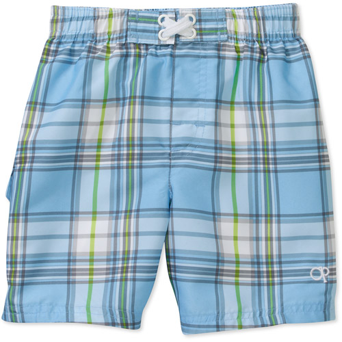 OP Baby Boys' Plaid Swim Trunks