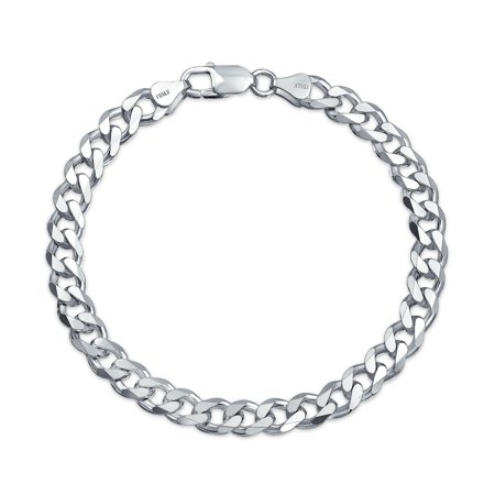 200 Gauge Solid Heavy Miami Cuban Curb Link Bracelet For Men For Teen 925 Sterling Silver Made In Italy
