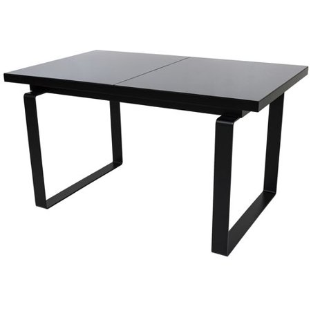 Orren Ellis Shauna Glass Top Extendable Dining Table