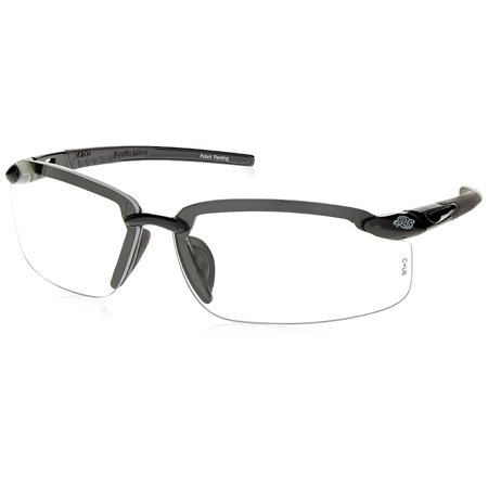 ES5 Reader Crossfire Safety Glasses Clear Diopter 2.0 Shiny Pearl Gray Frame, Readers 2.0 By Radians
