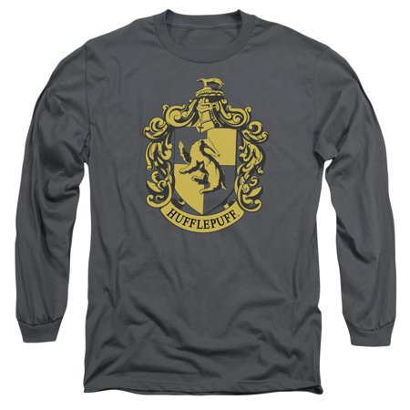 Trevco HARRY POTTER HUFFLEPUFF CREST Charcoal Adult Unisex