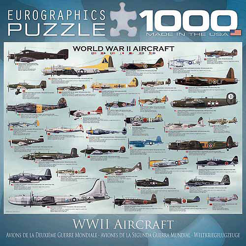 EuroGraphics World War II Aircraft 1000-Piece Puzzle, Small Box by Generic