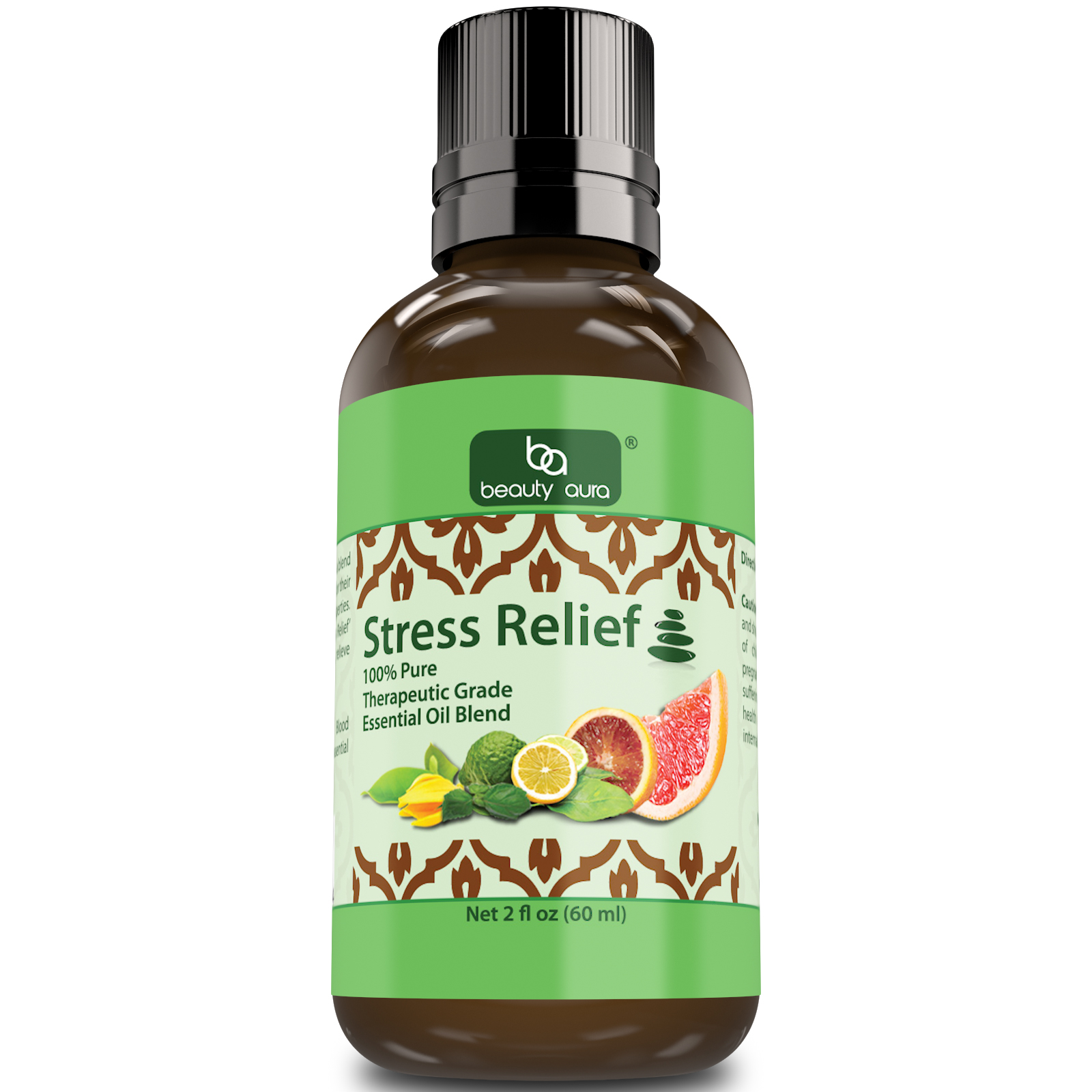 Beauty Aura Stress Relief Essential Oil Blend ( 2 Oz.)- Therapeutic Grade