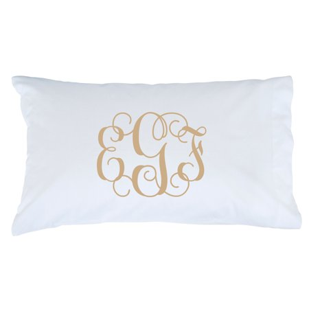 Personalized Gold Monogram Pillowcase - Multiple Colors ()